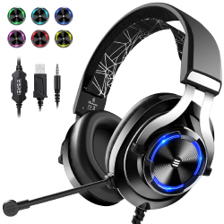 EKSA E3000 Black Gaming Headset with RGB light