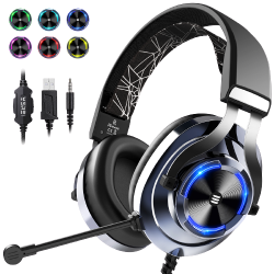 EKSA E3000 Blue Gaming Headset with RGB light