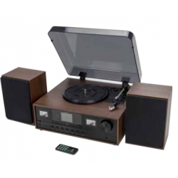 Retro Turntable Music Shhhhhystem With DAB+/FM, Turntable & Bluetooth function Denver MRD-52